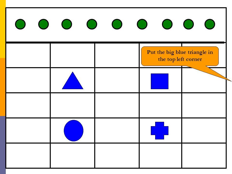 February 6 th, 2006 Ellen Campana Slide 60 Put the big blue triangle in the top left corner
