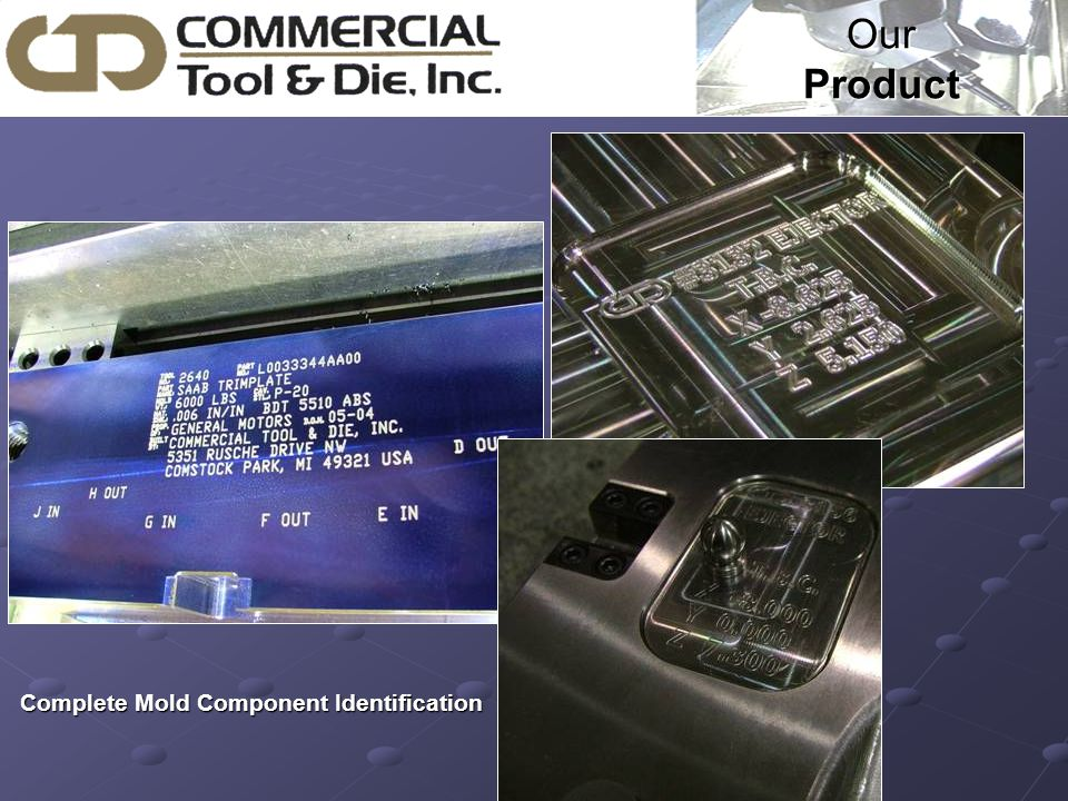 Our Product Complete Mold Component Identification