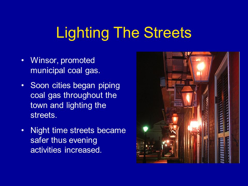 Lighting The Streets Winsor, promoted municipal coal gas.