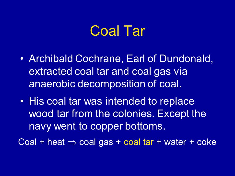 Coal Decomposition Products gases Coal Coke; 70% by mass Coal gas; 17%