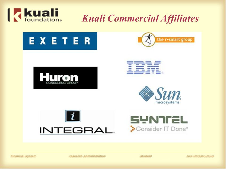 Kuali Commercial Affiliates