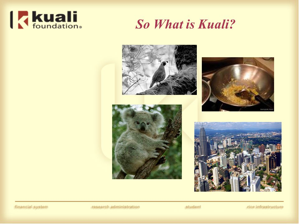 So What is Kuali