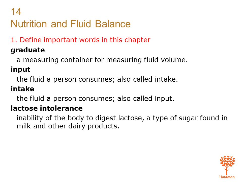 14 Nutrition and Fluid Balance 1.