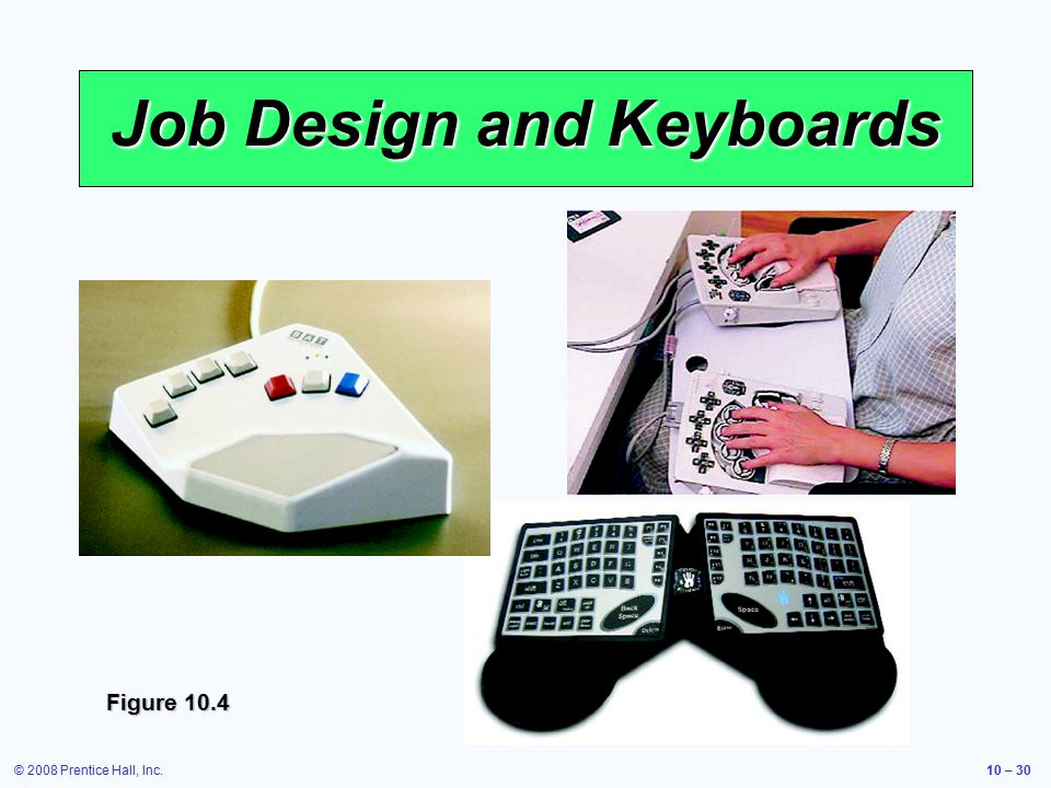 © 2008 Prentice Hall, Inc.10 – 30 Job Design and Keyboards Figure 10.4