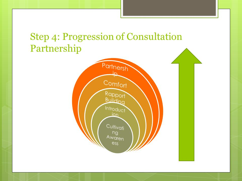 Step 4: Progression of Consultation Partnership