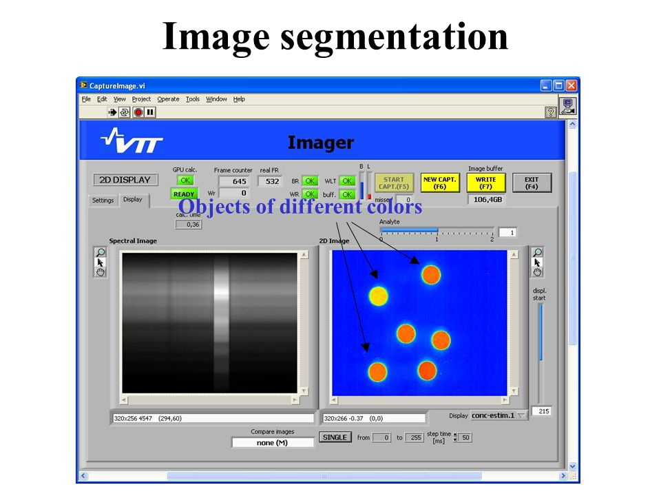 Image segmentation Objects of different colors