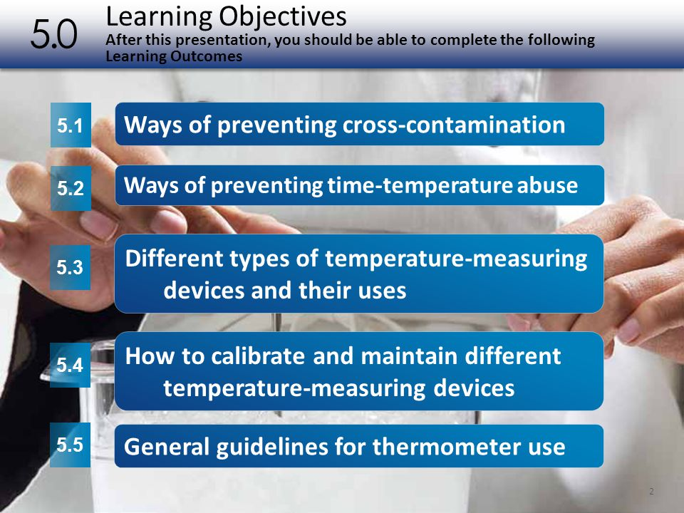 Learning Objectives After this presentation, you should be able to complete the following Learning Outcomes 5.0 2 5.1 5.2 5.3 5.4 5.5 Ways of preventi