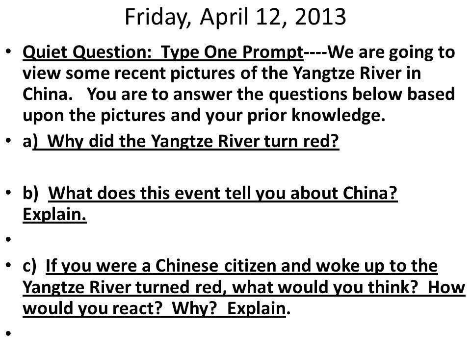 Tuesday, April 16, 2013 Class: Ms.