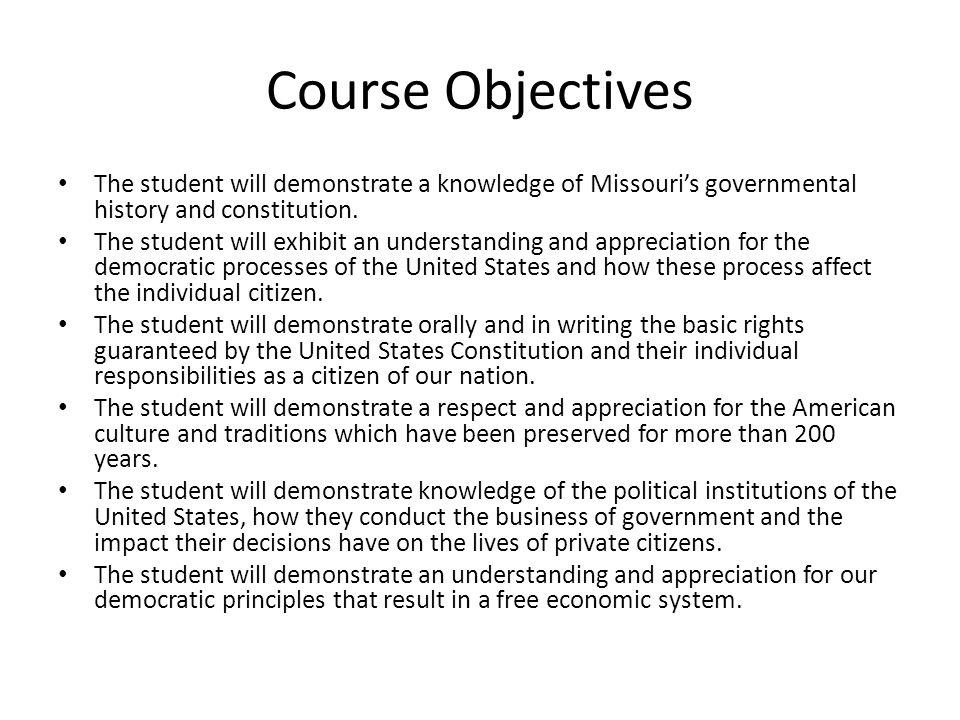 American History A Class Syllabus