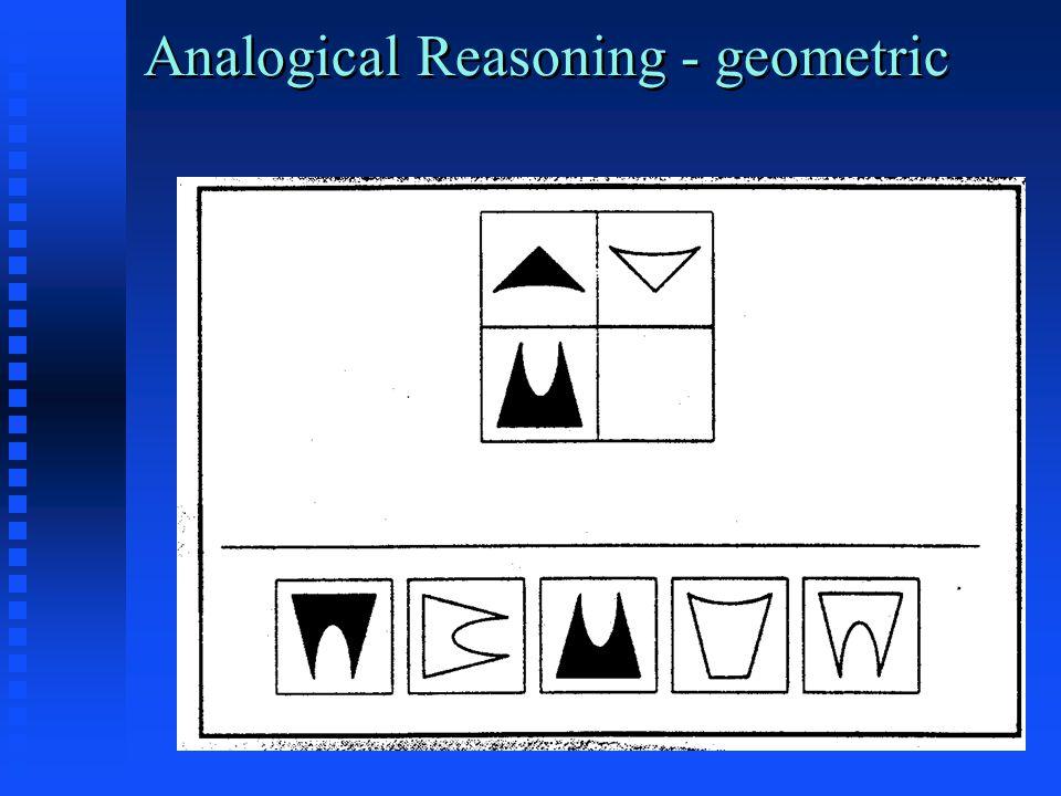 Analogical Reasoning - geometric