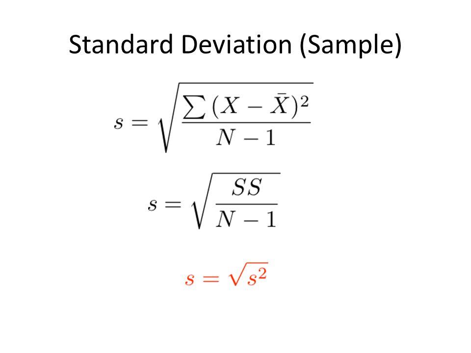 Standard Deviation (Sample)