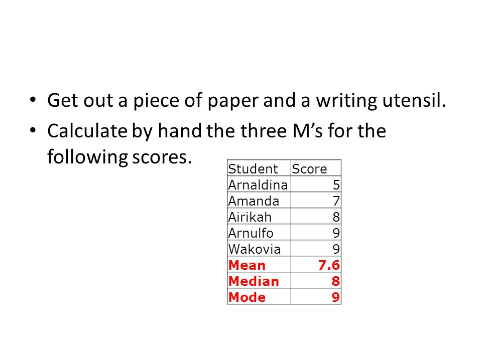 What does a standard deviation tell us.The typical distance of a score from the mean.