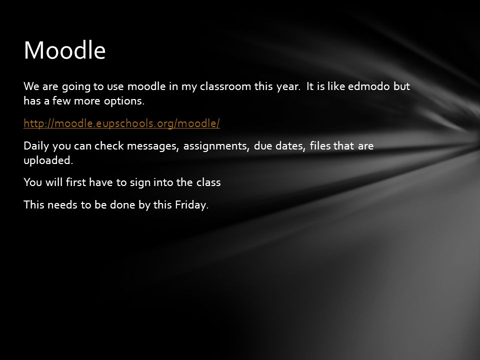 We are going to use moodle in my classroom this year. It is like edmodo but has a few more options. http://moodle.eupschools.org/moodle/ Daily you can