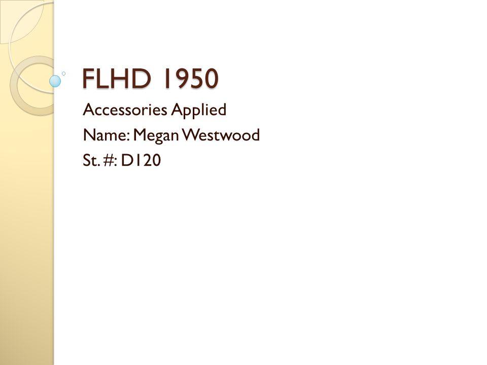 FLHD 1950 Accessories Applied Name: Megan Westwood St. #: D120