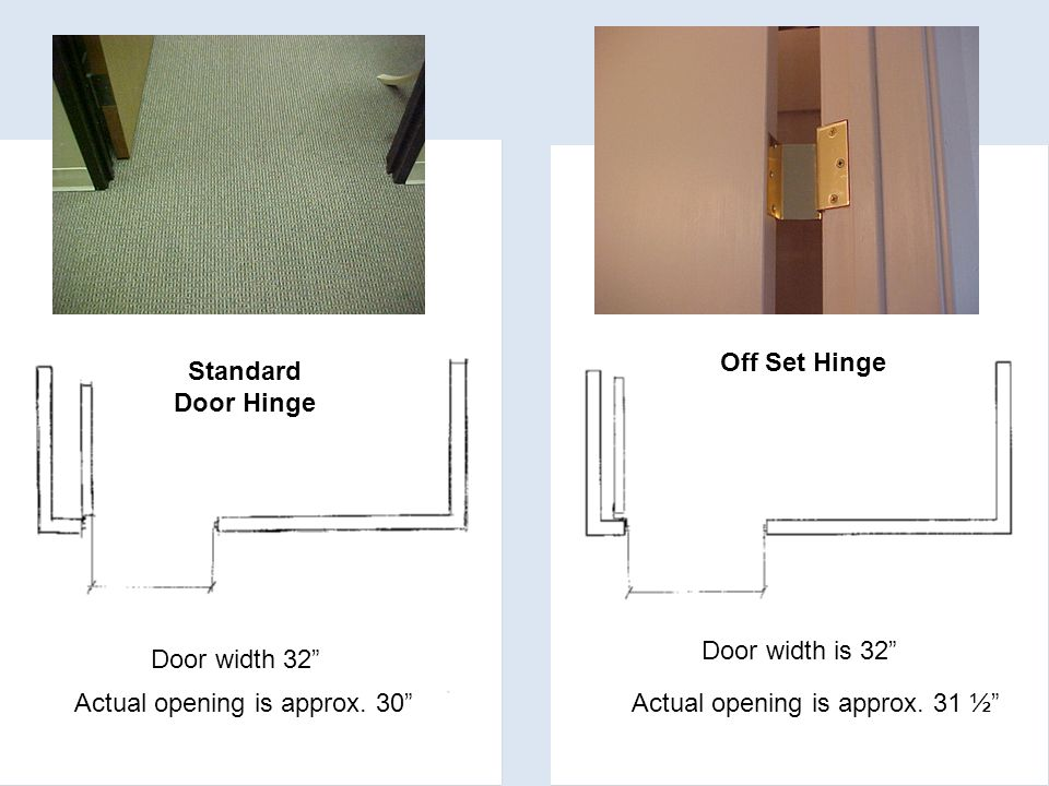 Door width 32 Actual opening is approx.
