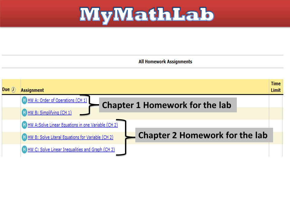 Chapter 1 Homework for the lab Chapter 2 Homework for the lab