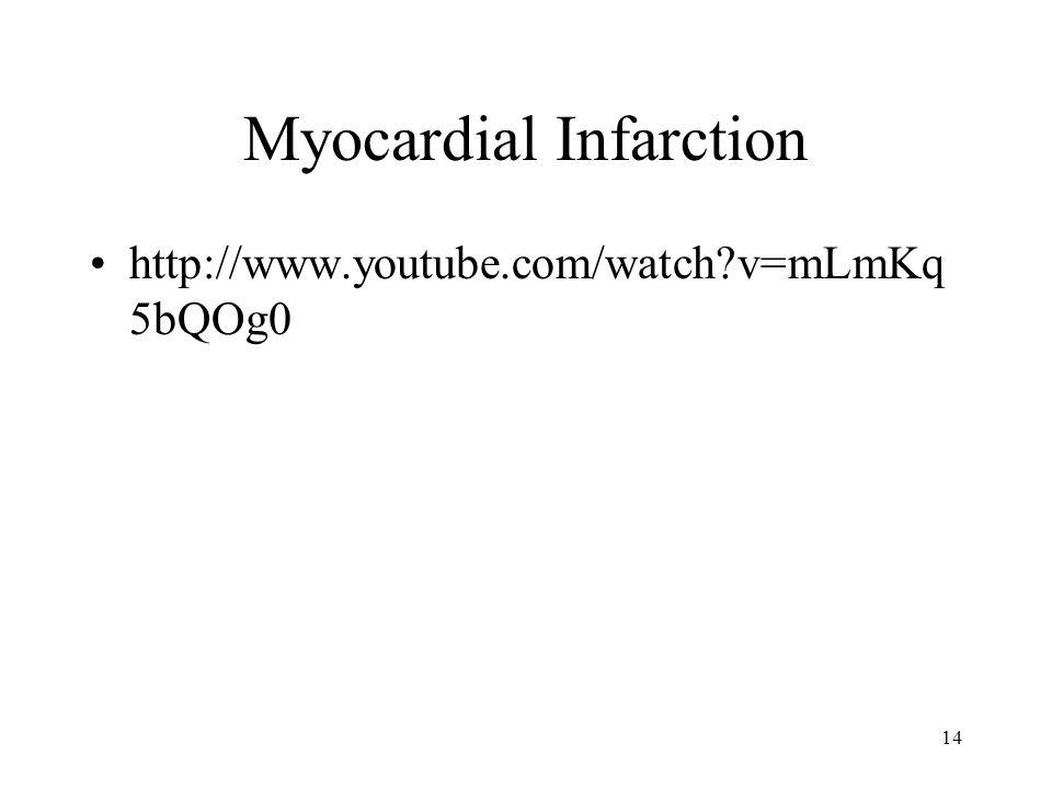Myocardial Infarction http://www.youtube.com/watch v=mLmKq 5bQOg0 14