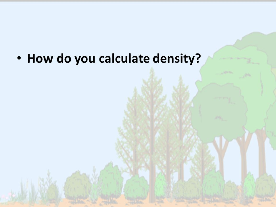 How do you calculate density?