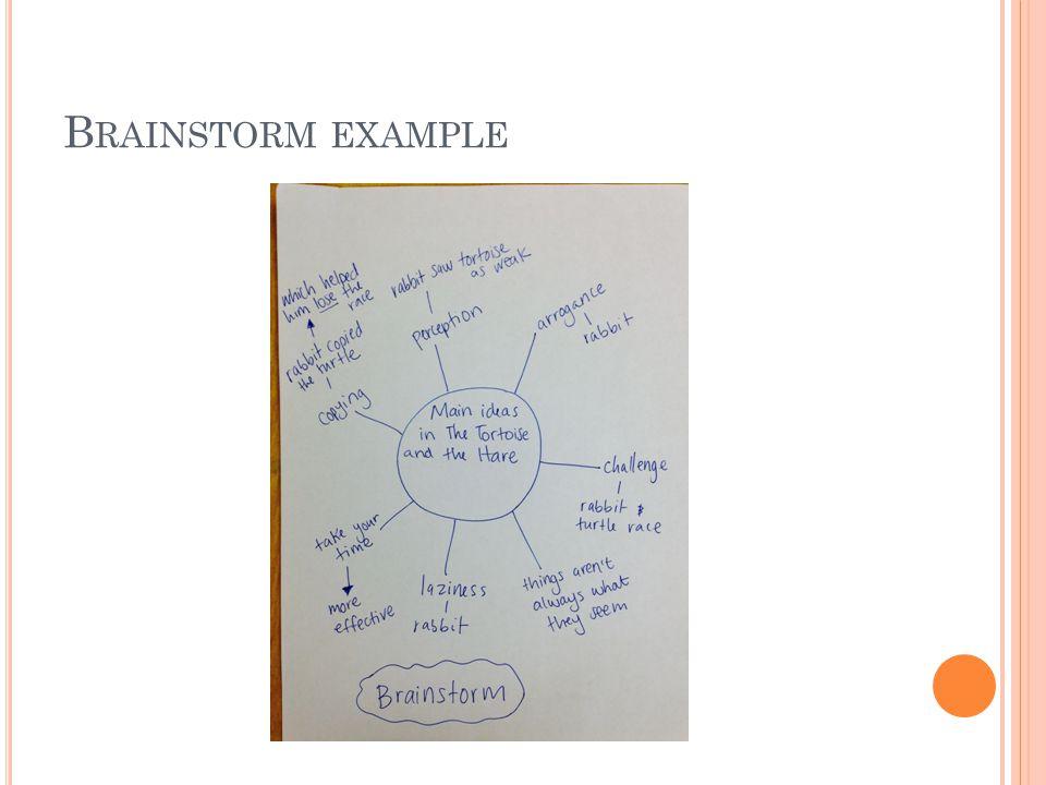 B RAINSTORM EXAMPLE