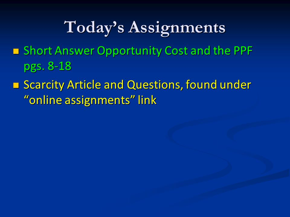 Opportunity Cost Opportunity Cost – used by economists to measure the cost of decision-making; the value of the what we give up Opportunity Cost – use