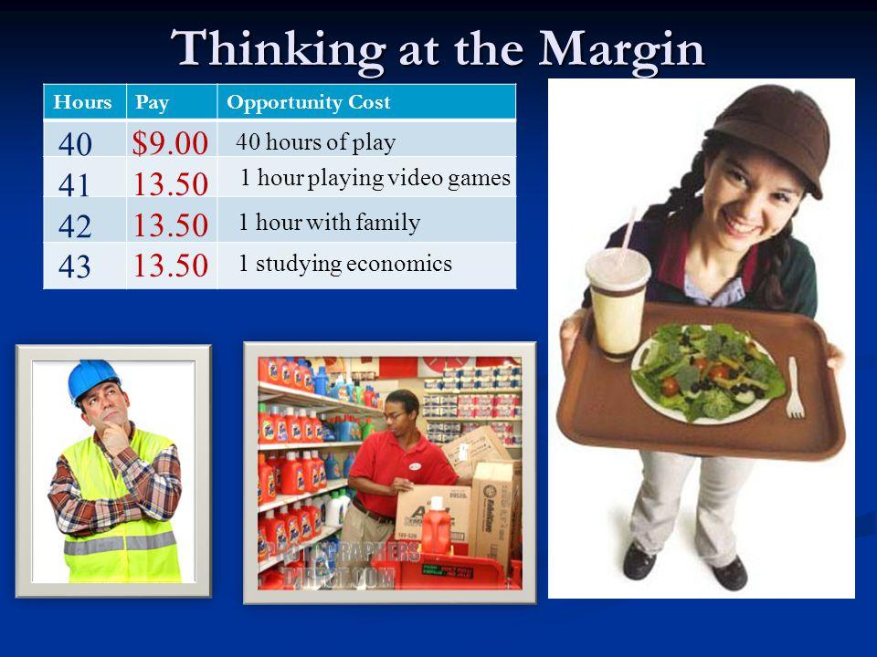 Thinking at the Margin Margin – an increment (small unit), a border/edge Margin – an increment (small unit), a border/edge Thinking at the margin – an