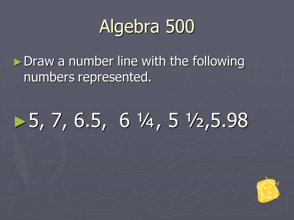 Algebra 600 ► Draw at least 2 repetitions of the pattern: ► x00xx0000xxx000000______ ► x0x0x0x0x0x0x0_________ ► What is the difference between the patterns?