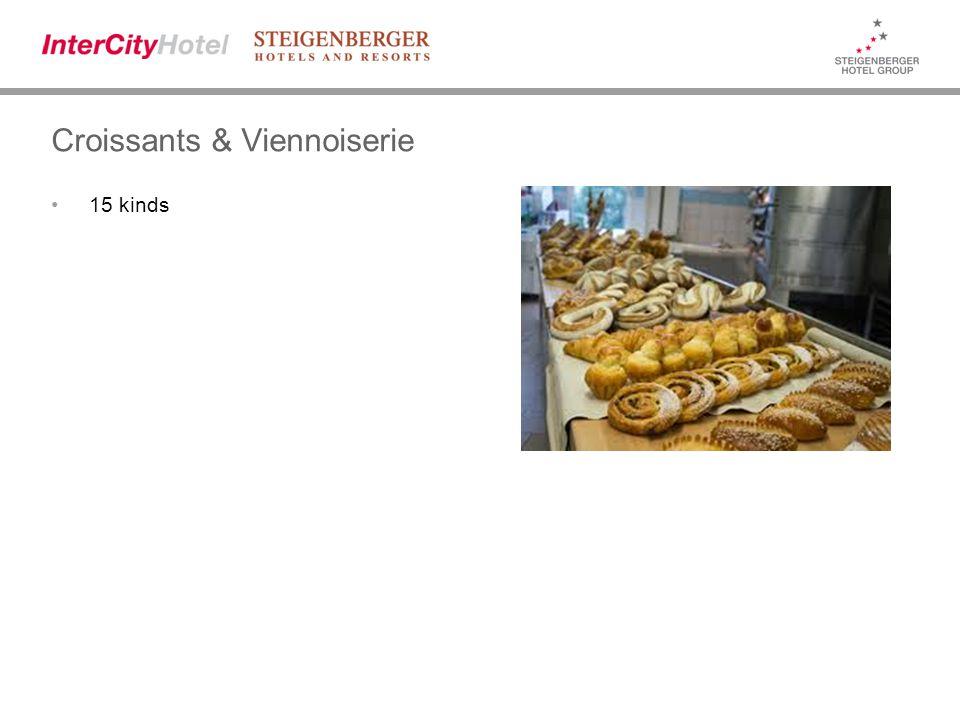 Croissants & Viennoiserie 15 kinds