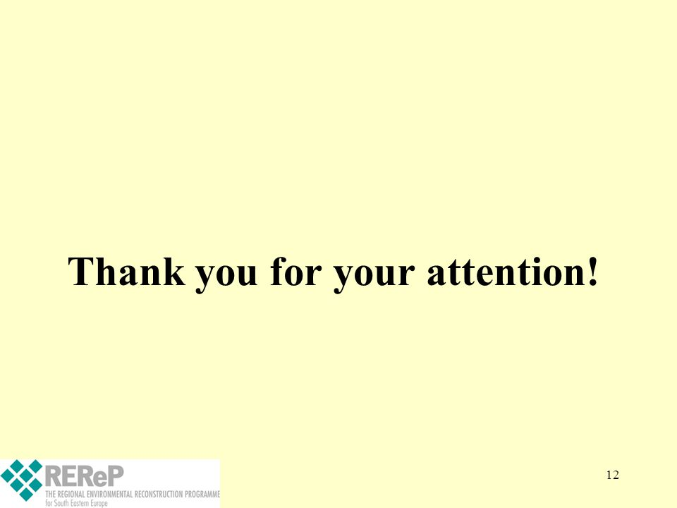 12 Thank you for your attention!
