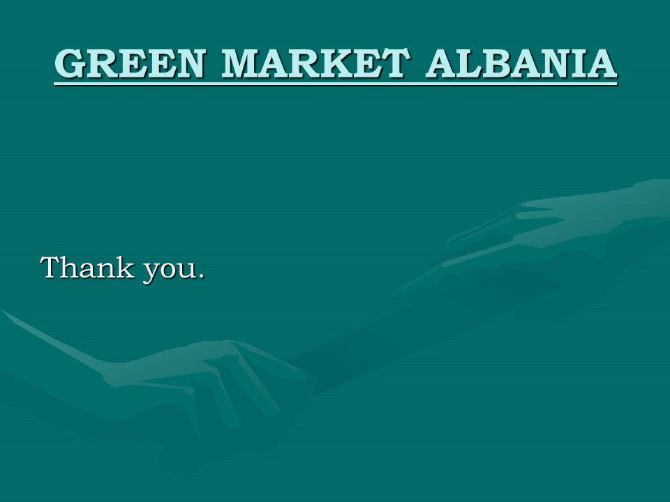 GREEN MARKET ALBANIA Thank you.