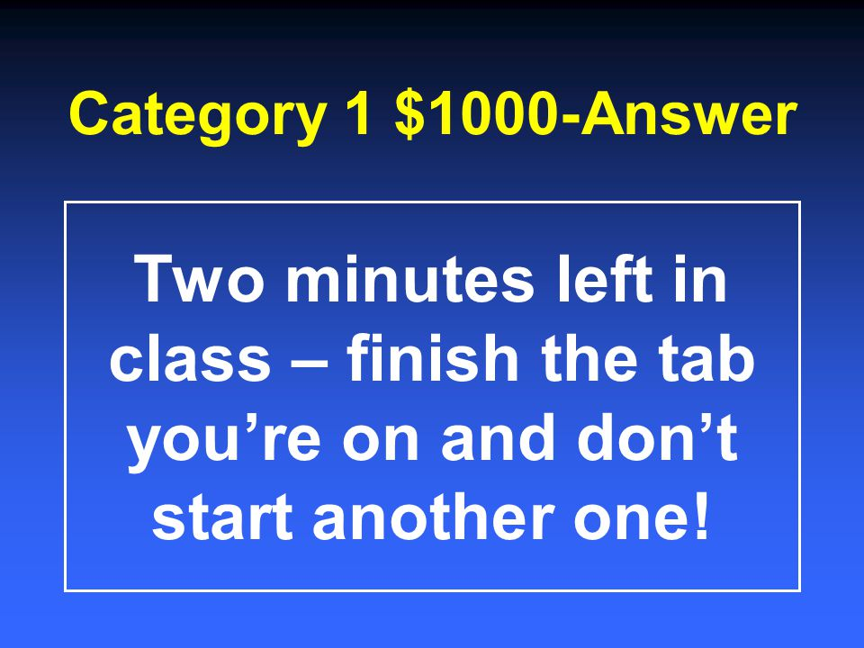 Category 1 $800-Answer 1.Keyboarding Information – access important class info 2.Keyboarding Calendar – view info about daily lessons and upcoming ass