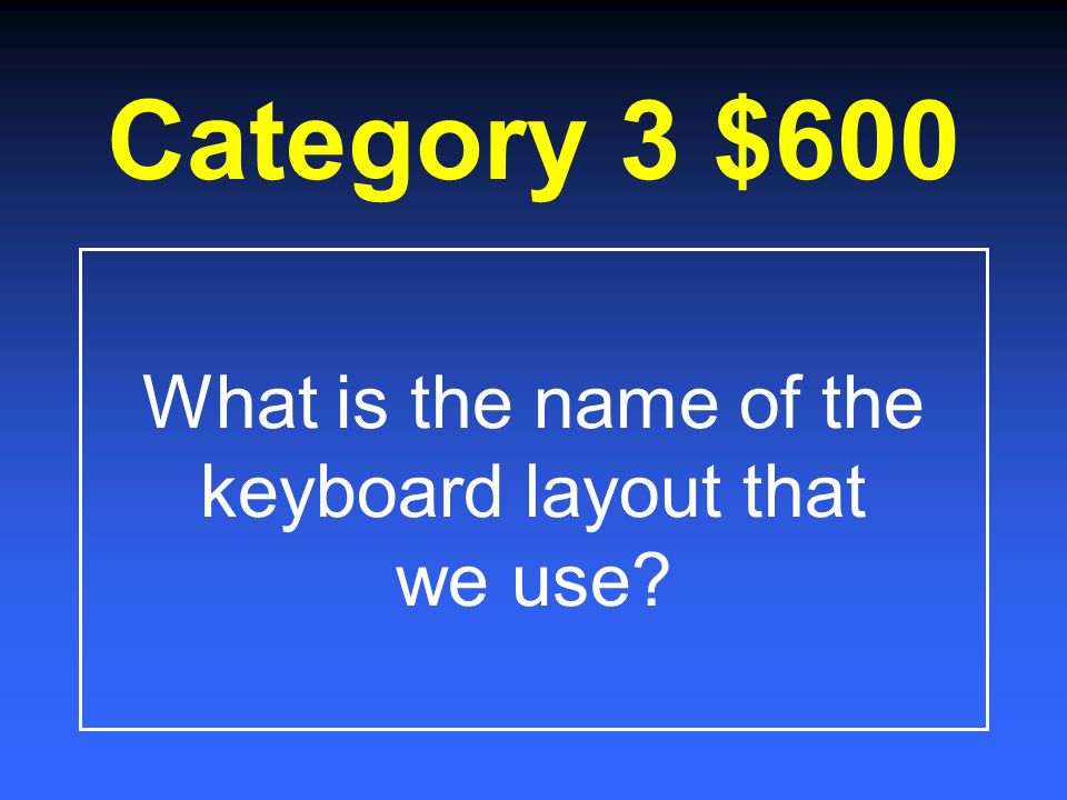 Category 3 $400 What is it called when a person uses two fingers to type