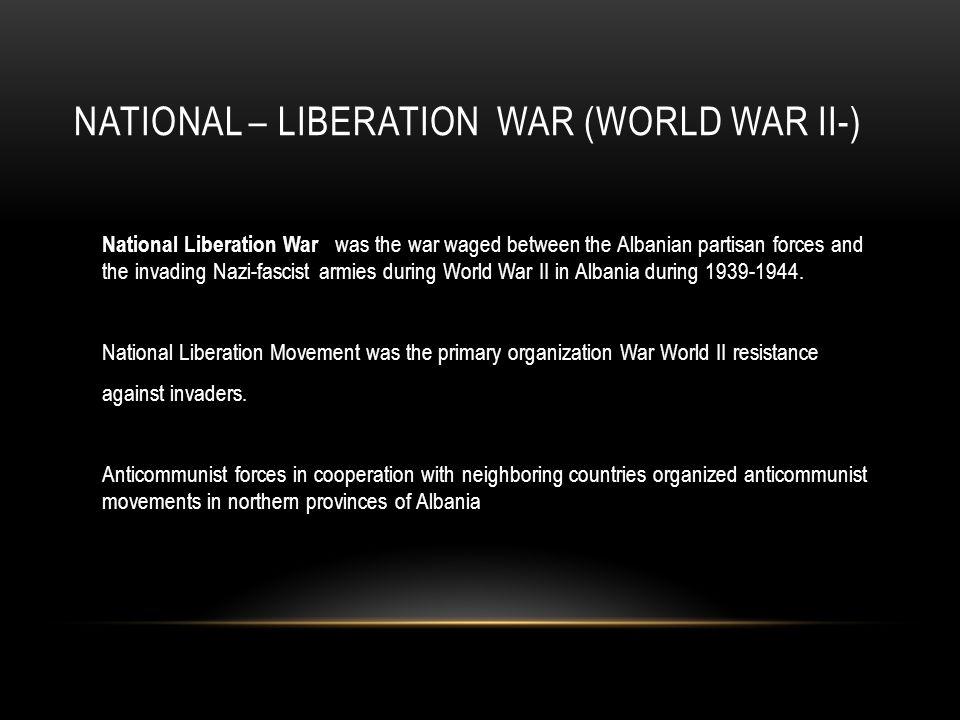 COMMUNIST DICTATORSHIP After the end of World War II, the communist dictatorship established in Albania.