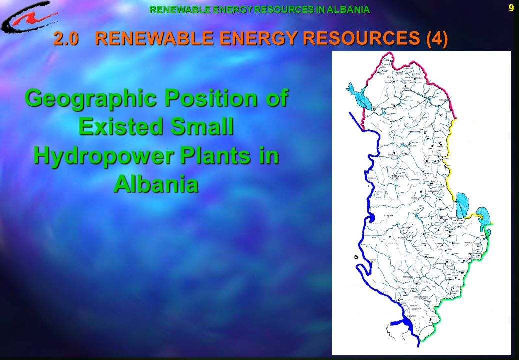10 The Small Hydropower Plants Sector, as part of the Energetic Institute in Tirana, has done a study on existed possibilities for construction of other small hydropower plants.