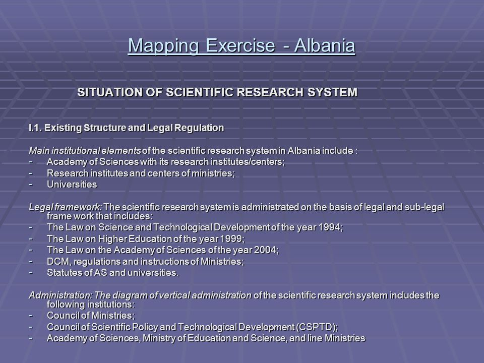 Mapping Exercise - Albania