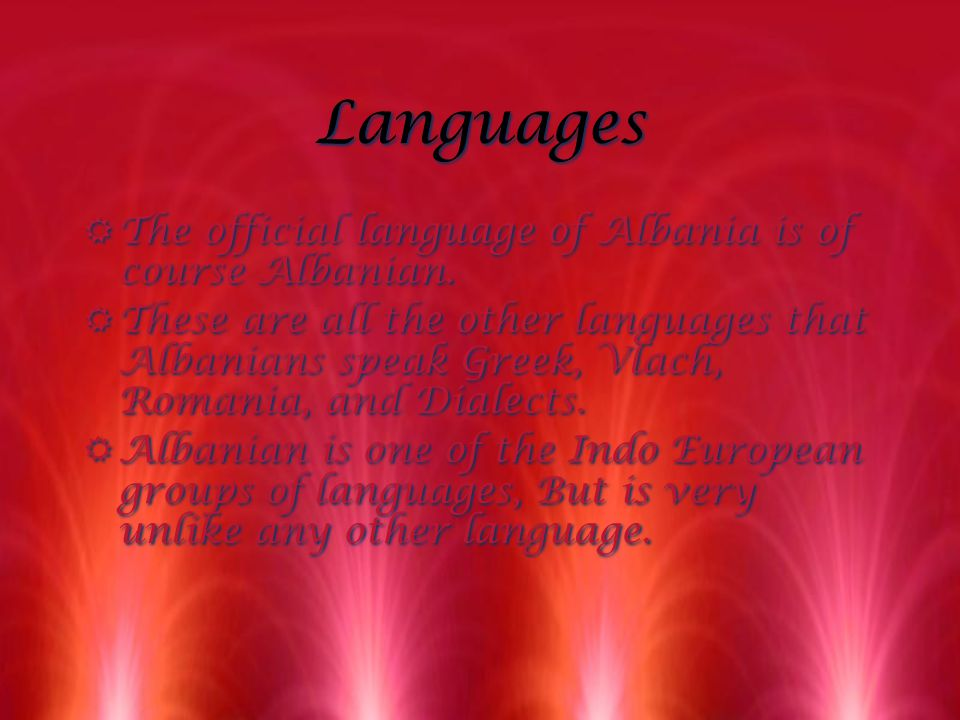 Culture RWe found out that Albanians belong to two groups of people the Tosks and the Ghegs.