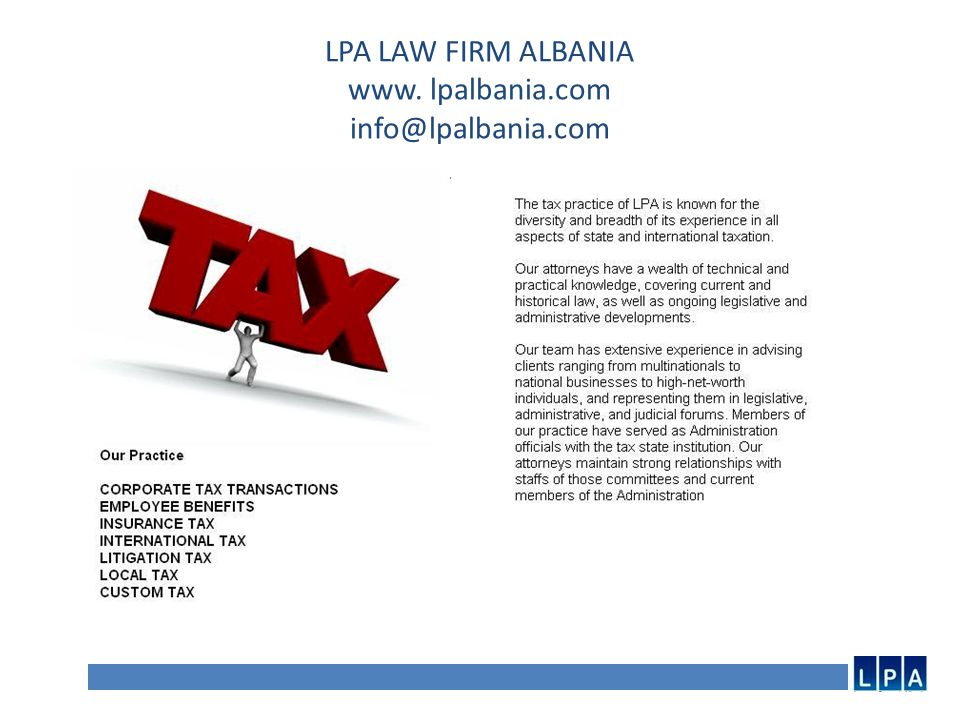 LPA LAW FIRM ALBANIA www.