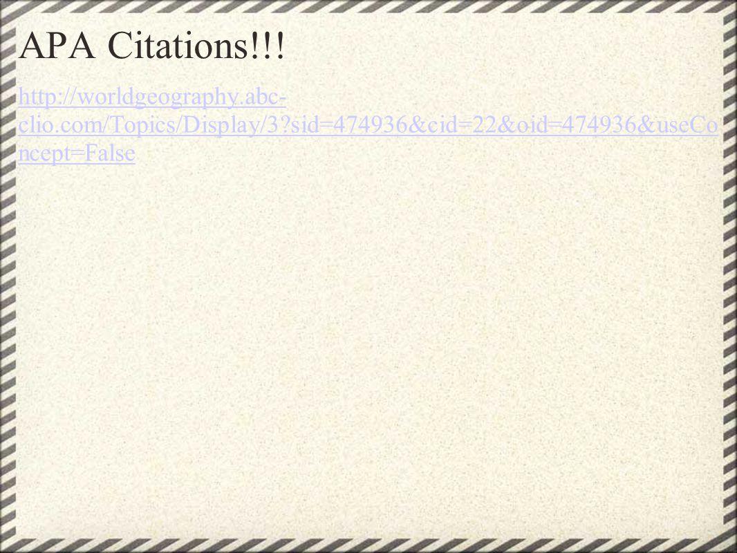 APA Citations!!.