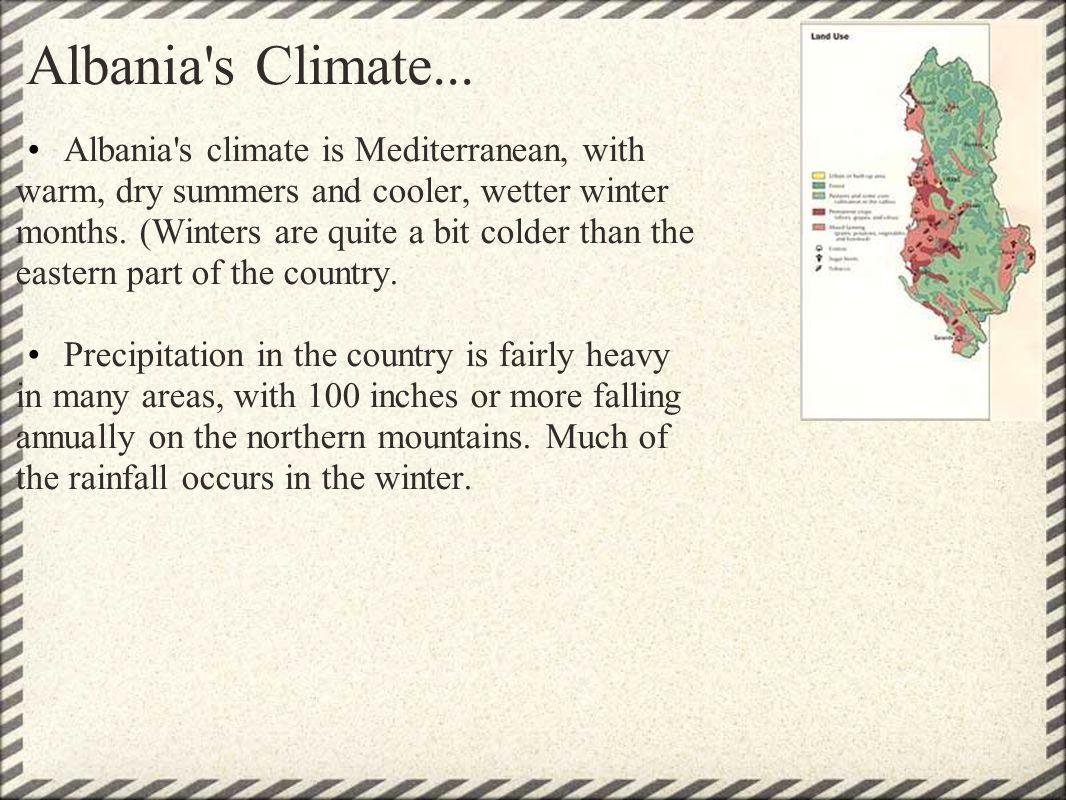 Albania s Climate...