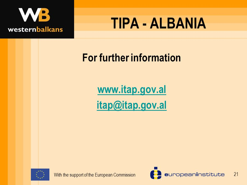With the support of the European Commission 22 THANK YOU FOR YOUR ATTENTION!