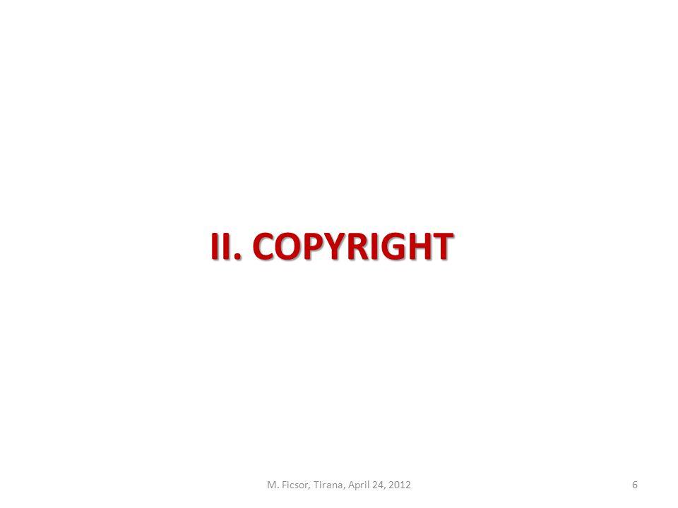 6 II. COPYRIGHT