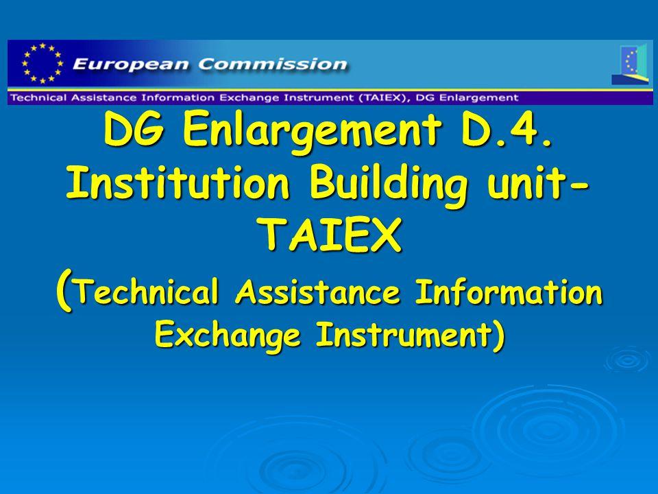 DG Enlargement D.4.