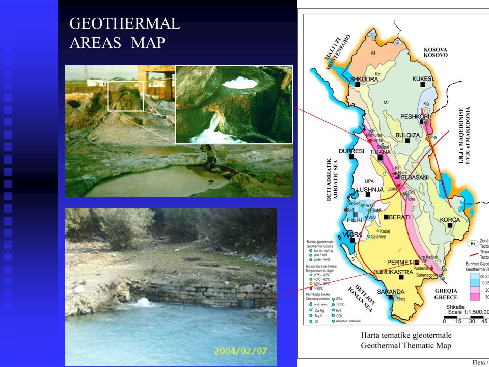 GEOTHERMAL AREAS MAP