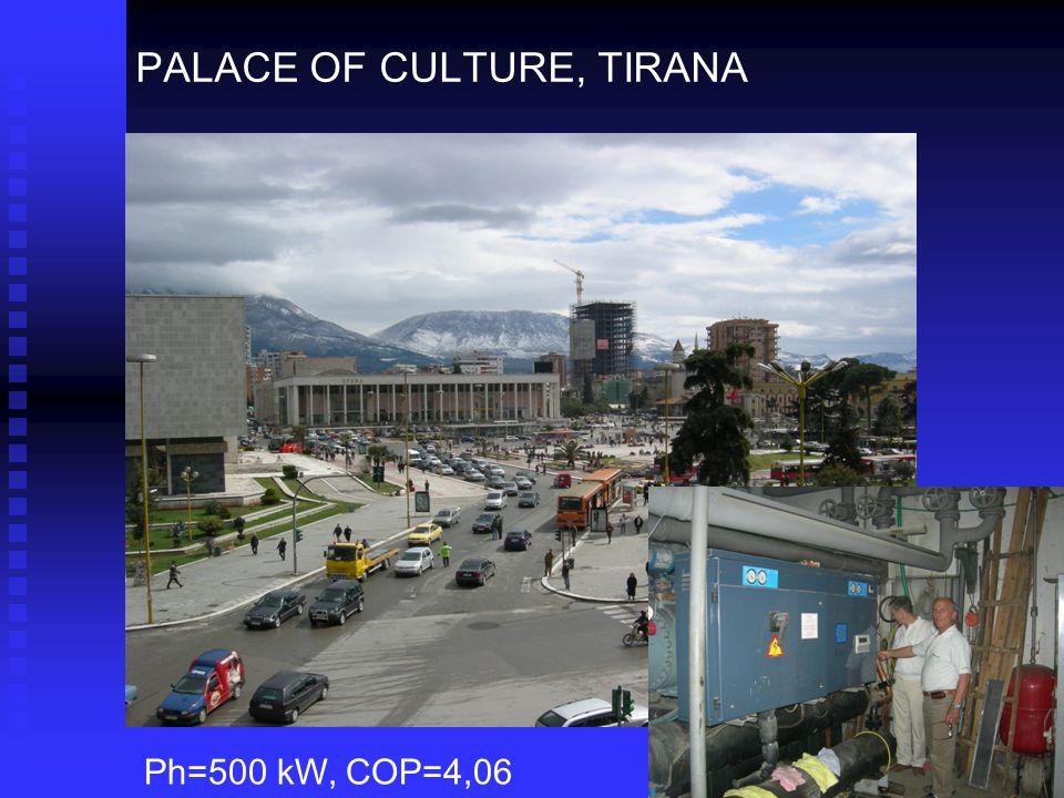 PALACE OF CULTURE, TIRANA Ph=500 kW, COP=4,06