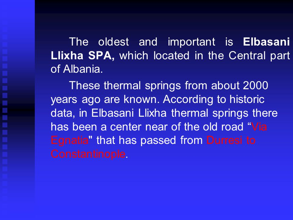… The geothermal situation of low enthalpy in Albania offers different directions for use of geothermal energy, which is unused until now.