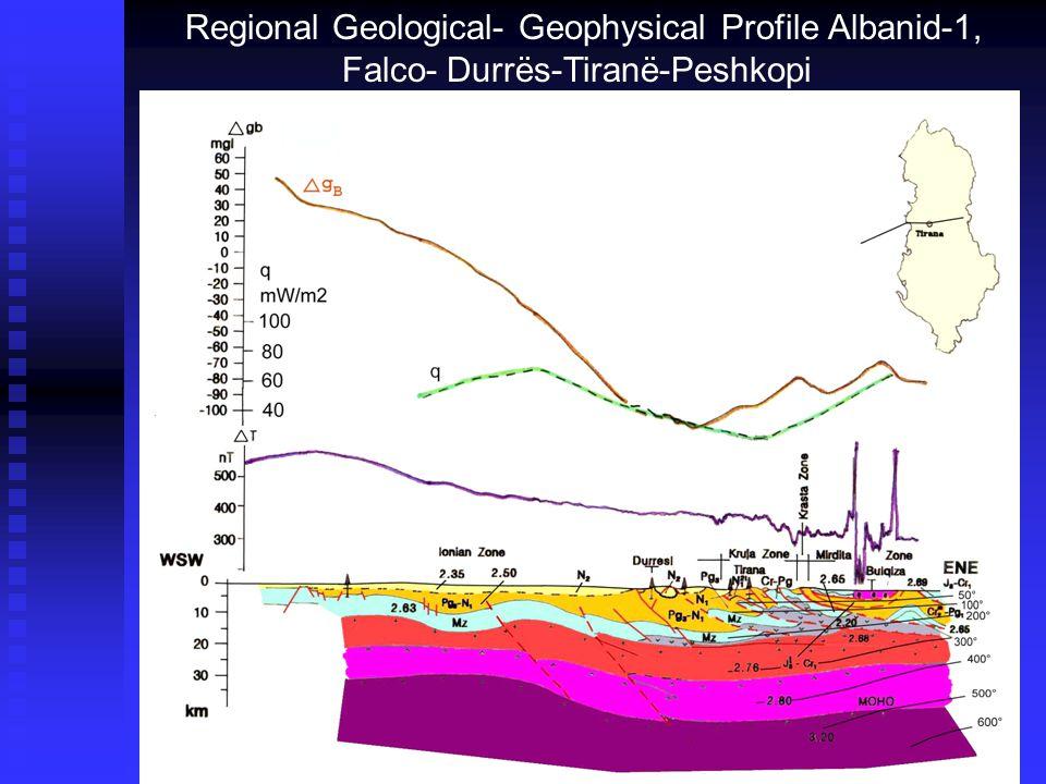 Regional Geological- Geophysical Profile Albanid-1, Falco-Durrës-Tiranë-Peshkopi