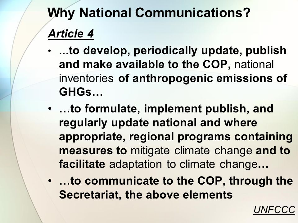 Why National Communications.