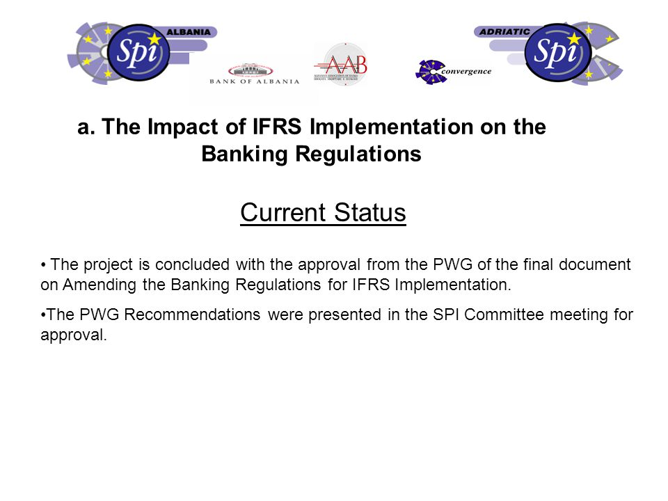 c. Reducing Cash Transactions I. SPI Albania Projects' Progress