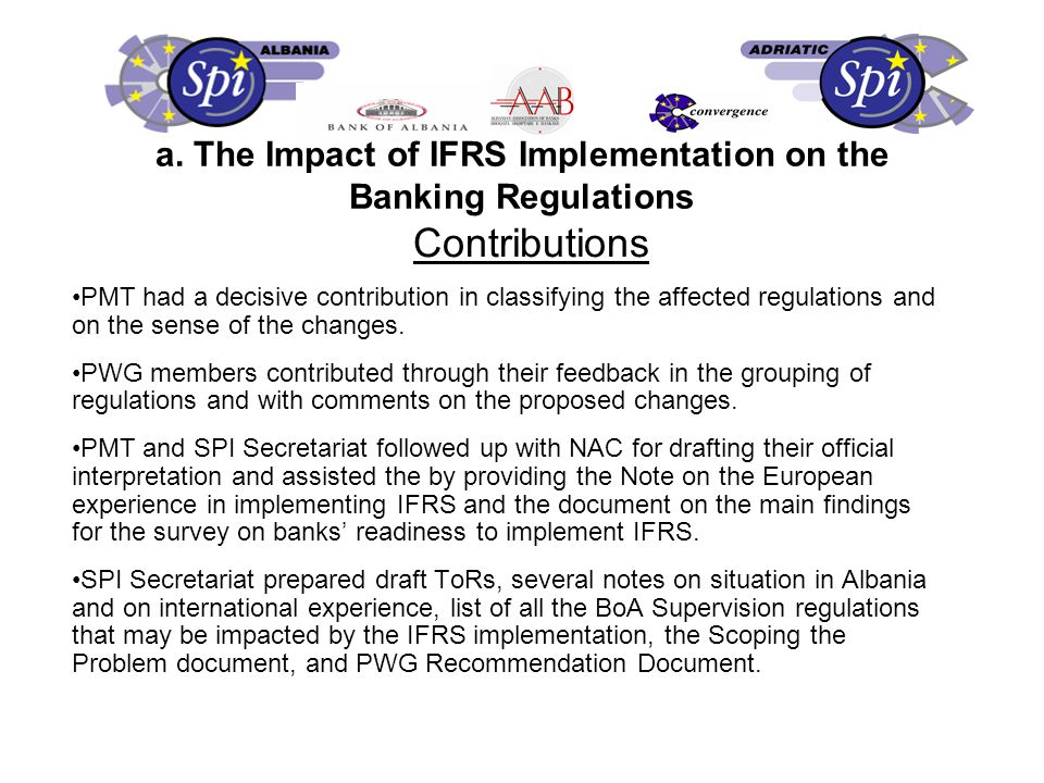Achievements Project terms of reference agreed Presentation by the Italian Association of Banks (ABI) on their initiative in reducing cash transactions.
