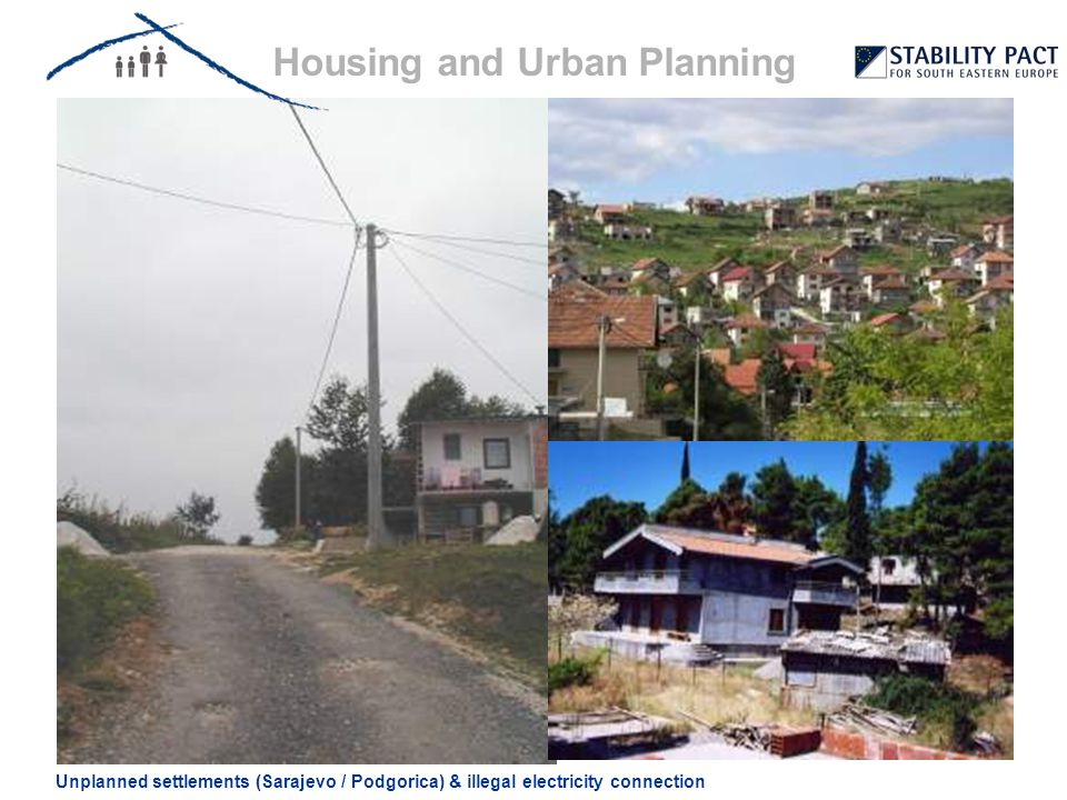 Housing and Urban Planning Unplanned settlements (Sarajevo / Podgorica) & illegal electricity connection