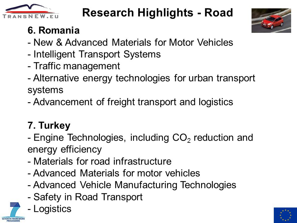 Research Highlights - Road 6.